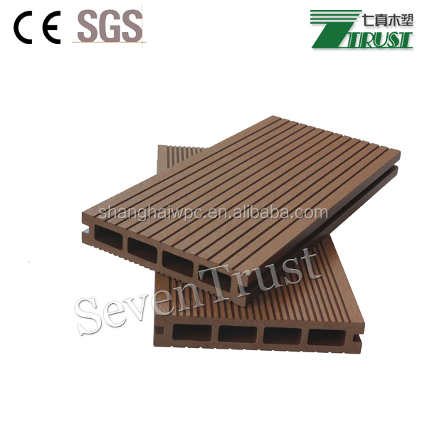 wood plastic composite hollow floating dock decking flooring covering