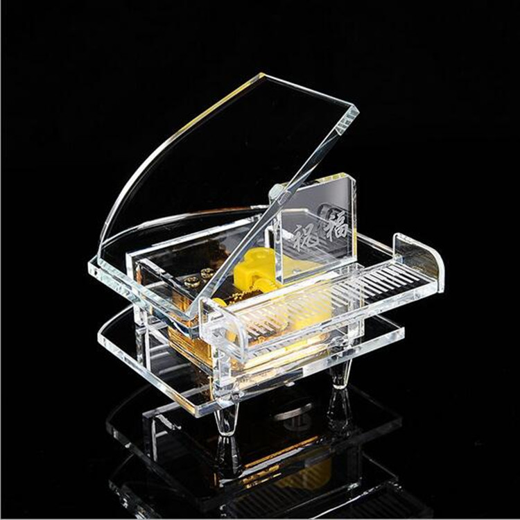 Hot Sale Exquisite Crystal Piano for crystal wedding Gift or Home Decoration
