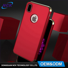 Free sample 360 degree protective PC hard cell phone case, custom logo 3 in 1 case for iphone 7 8 X
