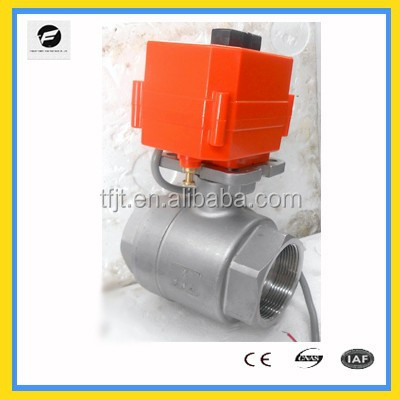 2-way electric actuator ball valve with ISO5211 din brass and stainless steel material 5v 12v 24v for water irrigation hydrants