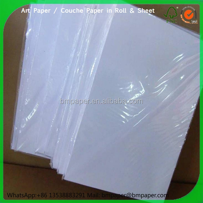 58gsm 60gsm 64gsm 68gsm 70gsm Light weight coated paper / LWC paper in roll and sheet