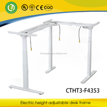 Design Electric Control Height Adjustable Angle change for L-shaped desk