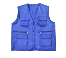 2017 mans cheap wholesale multi pocket fishing vest