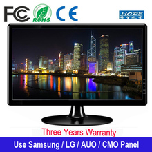Wall Mount Wide screen 22 inch LED computer monitors with VGA DVI RCA