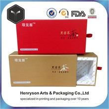 China Alibaba Wholesaler Customized Packaging Drawer tea box