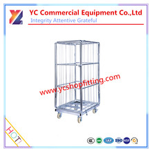 2016 Multi-function metal supermarket wheeled shopping trolley for food