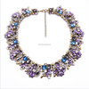 2016 Fancy Crystal Flowers Necklace Crystal Choker Necklace for Woman