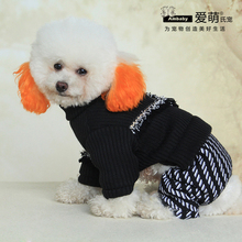 2017 new dog apparel dog jumpsuit sweater pet clothes for small animals
