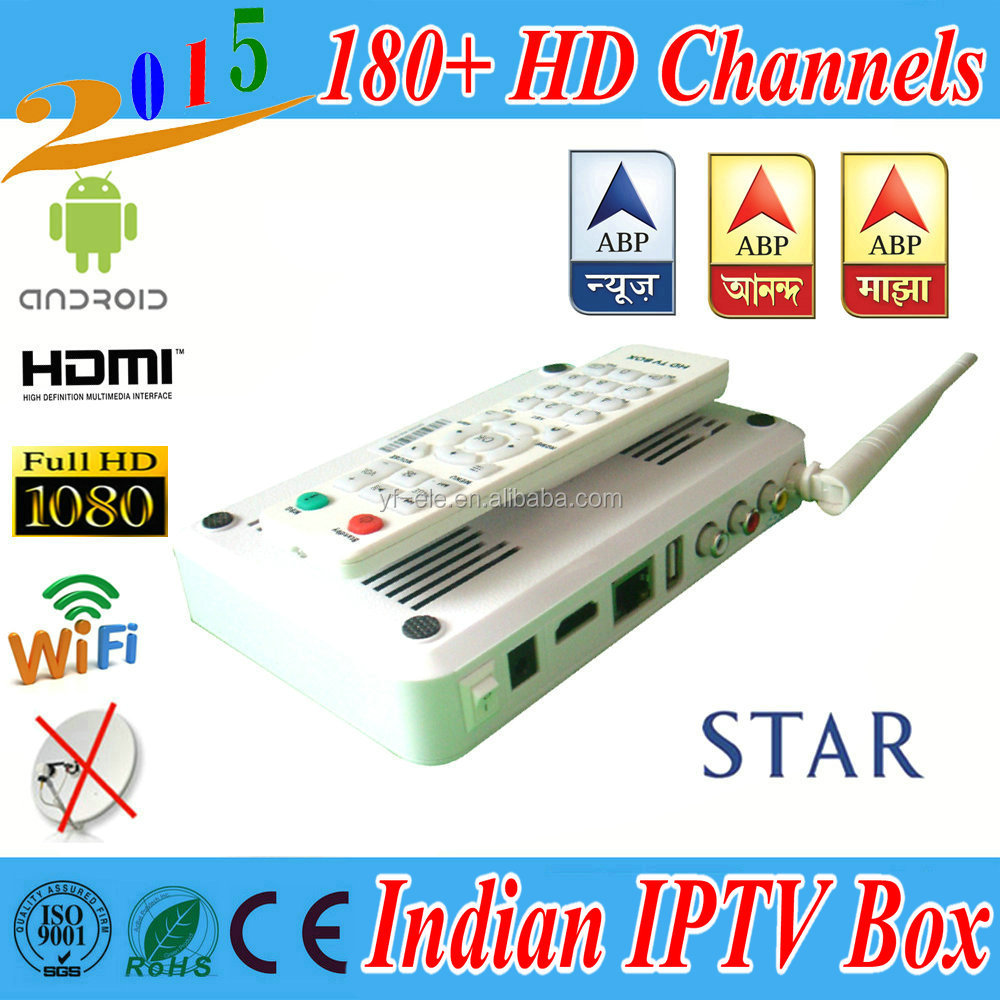 Android 4.4 IPTV Indian IPTV Box HD HD Channel 1 Year set top box Wifi <strong>TV</strong> box Indian iptv box free <strong>tv</strong>