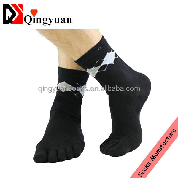2015 new arrival wholesale OEM custom design men's bamboo five toe socks