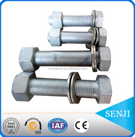 china wuxi senji fasteners galvanized hexagon bolt
