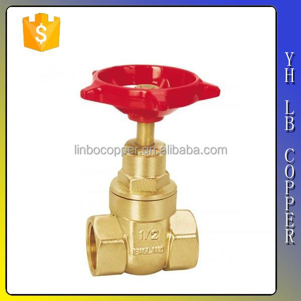 LINBO-C952made in china forged cw617n customized chain wheel gate valve with handle