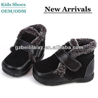 High quality italian sheepskin children buckle boots unisex toddlers snow boots