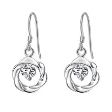 Good quality best-selling loop silver plated earrings