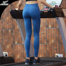 Stock high quality quick dry running pants women gym wear young sexy colorful yoga leggings for yoga
