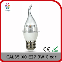 CAL35 DIMMER 200LM 3W REPLACEMENT 25W E27 FLAME CANDLE CRYSTAL LIGHT FOR CANADA