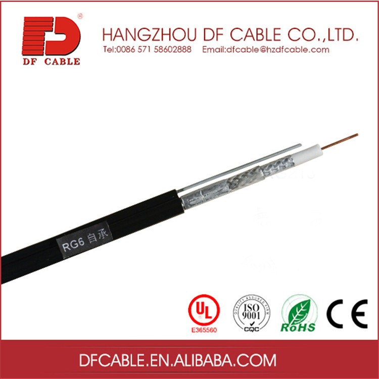 RG6 Standard Shield Coaxial Cable With Steel Messenger