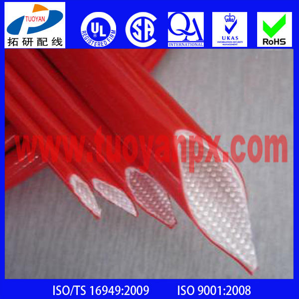 Hot sell Thermal Insulation Silicone Fiberglass Fire Sleeve