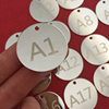 Stainless Steel Number Tag Metal Tags