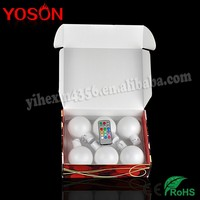 Factory Outlet AA Battery White Plastic LED Christmas Ball