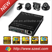 1CH 2CH 4CH HD Taxi Solution with 4G WIFI G-Sensor GPS 1080P 3g wifi h.264 Mobile DVR camera systems