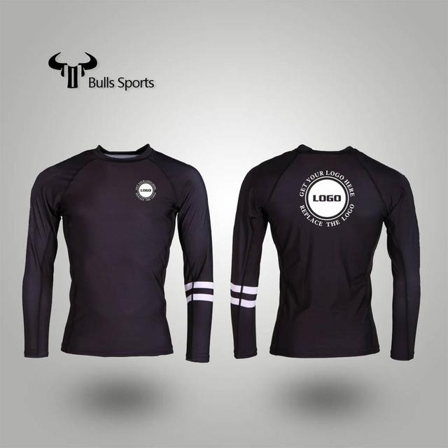 Wholesale top quality mens long sleeves sublimation compression shirts