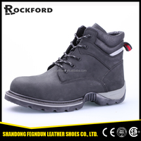 Coal mine worker steel industrial black abrasion resistant safety boots FD6326