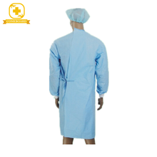 disposable surgical gown with elastic or knitted cuff