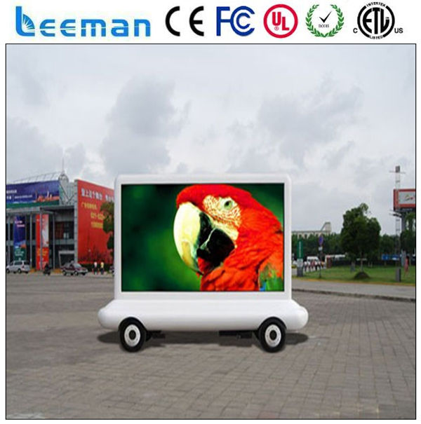 digital display board 2015 Leeman LED Motorcycle billboard government election truck