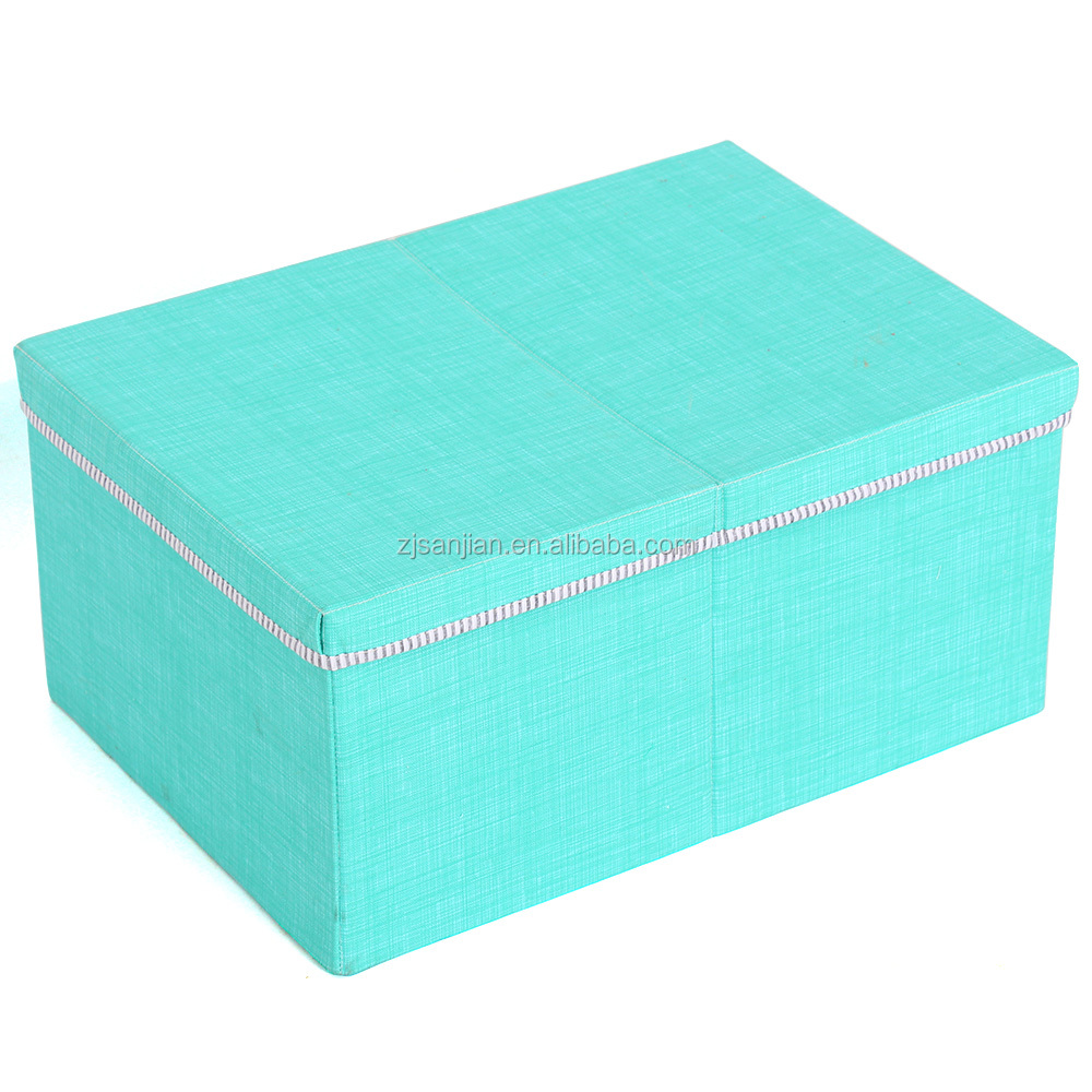 colored Collapsible Foldable Fabric Canvas Storage box Bin