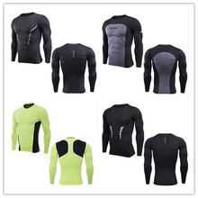 wholesale polyester spandex mens dri fit gym sports compression t shirt stretched elastic shirt with custom reflective printing