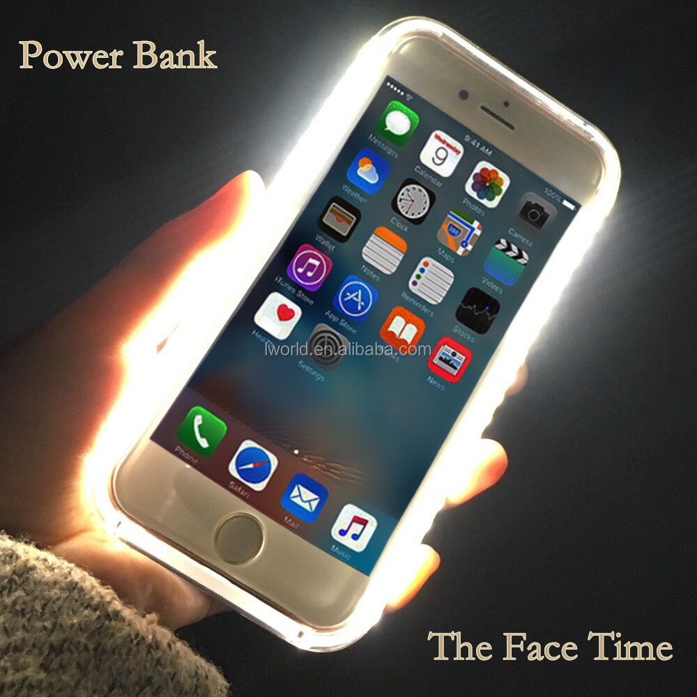 Hot selling Power Bank function led phone case for face time