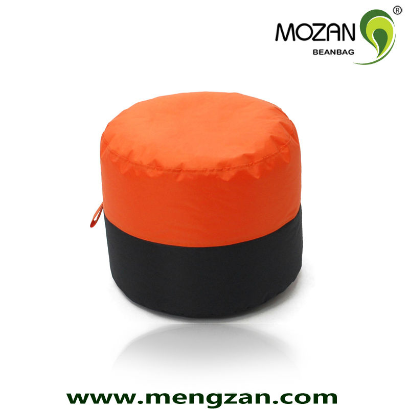 Mixed-color fabric kids ottoman in room or graden beanbag stool