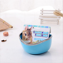 Small pet Guinea pig Fixed food bowl Hamsters bowl Accessories Rabbit manger#L14*W11*H7CM