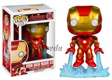 Wholesale Price Funko POP Ironman 66# PVC Toy The Avenger2 Marvel POP figure Ironman Mark 43 action figure
