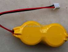 3.6V LIR2477 battery rechargeable button cell with pins