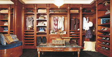 Customized Cherry/Teak/Oak/Mahogany solid wood walk-in wardrobe