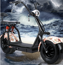 2017 popular big wheels Harley style electric scooter, fashion city scooter citycoco