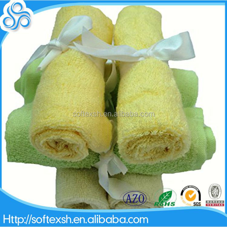 order from china direct natural bamboo promotional baby washcloths terry