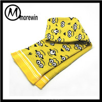 Morewin amazon supplier custom cartoon cute print children hats gloves and scarf sets