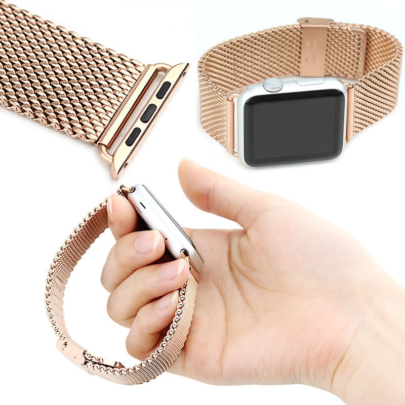 Elegant Mesh Mental Watch Band For Apple Watch,Milanese Stainless Steel Watch Strap For Apple Watch,For Apple 42 Watch Wristband