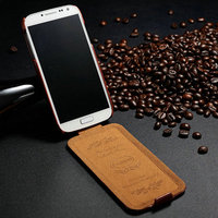 High quality PU leather mobile phone case for Samsung I9500 S4 skin touch from competitive factory