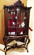French New Classical Solid Wood Vitrine , Vintage European Style Commode on Stand BF11-09292h