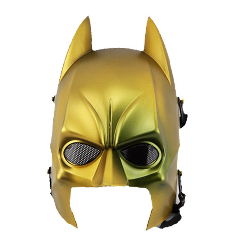 Gold color funny different types of half face batman mask