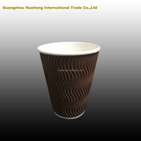 16oz custom disposable double/ripple paper coffe cup