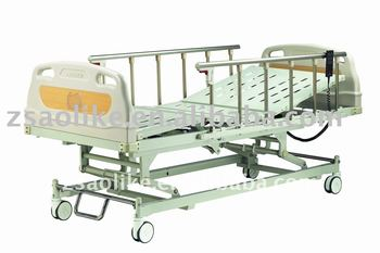 CE,FDA approved Quality High Quality And cheap Electric hospital bed for sale with 3 function with Control brakes