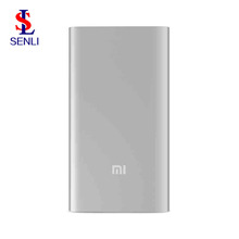 Original Xiaomi Power Bank 5000mAh Portable Mi 5000mAh Power Bank Ultra Thin Metal Shell Security Xiaomi 5000mAh Mi Power Bank