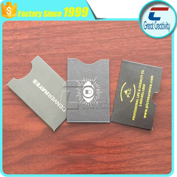 promotion item RFID Blocking Sleeve Envelope Theft Protector for ID or Credit Card
