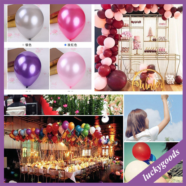 LQQ001 wholesale party wedding decorative PEARL LATEX balloon