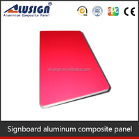 Alusign weather proof aluminum composite panel advertising board acp board for advertising